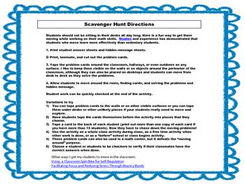 5th Grade Math Scavenger Hunt: Parenthesis, Brackets, and  Braces: Common Core