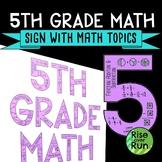 5th Grade Math Sign Classroom Decor