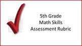 5th Grade Math Skills Assessment Rubric