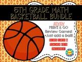 5th Grade Math Skills Basketball BUNDLE