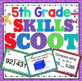 5th Grade Math Skills Scoot Mega Bundle
