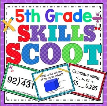 5th Grade Math Skills Scoot Mega Bundle