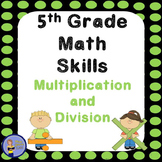 5th Grade Math Skills Student Practice Book - Multiplicati