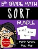5th Grade Math Sort Activity Bundle