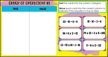 Math Sorts   5th Grade Math Activities