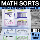 5th Grade Math Sorts - Set 2 Decimals