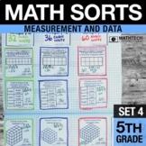 5th Grade Math Sorts - Set 4 Measurement & Data