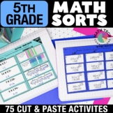 5th Grade Math Sorts | 5th Grade Math Games | Math Interactive Notebook