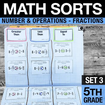 5th Grade Math Sorts - Set 3 Fractions