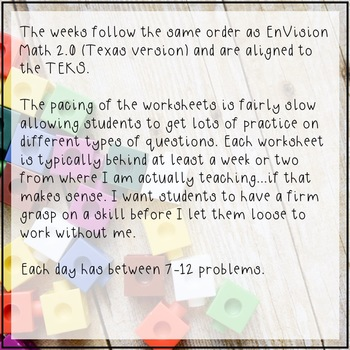 5th Grade Math Spiral Review 2 Week FREEBIE