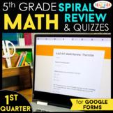 5th Grade Math Spiral Review | Google Classroom Distance L