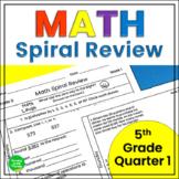 5th Grade Math Spiral Review 1