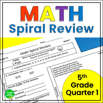Math Practice Worksheets Spiral Review: Applications Skill