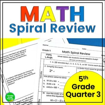 5th Grade Math Spiral Review: Practice Applications Skills