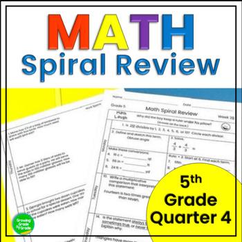 5th Grade Math Spiral Review Q4