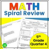 5th Grade Math Spiral Review 4