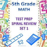 5th Grade Math Spiral Review Set 1
