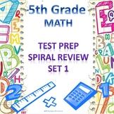 5th Grade Math Spiral Review Set 1