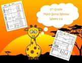 5th Grade Math Spiral Review (TEKS aligned) Weeks 5-8