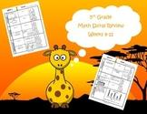 5th Grade Math Spiral Review (TEKS aligned) Weeks 9-12