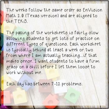 5th Grade Math Spiral Review Independent Work Packets