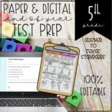 5th Grade Math STAAR Test Prep Printable and Digital