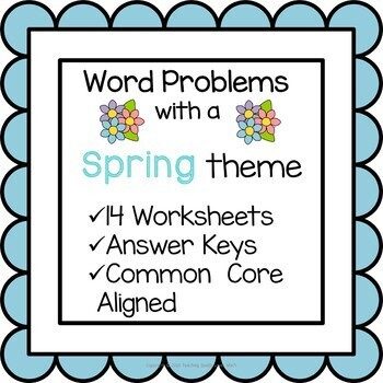 Spring Math Word Problem Worksheets 5th Grade Common Core