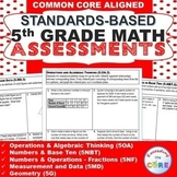 5th Grade Math Standards Based Assessments BUNDLE Common Core