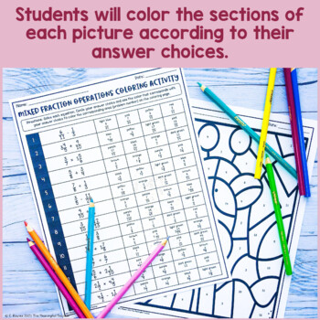 5th Grade Math Standards Coloring Activities BUNDLE