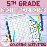 Math Coloring Activities BUNDLE (aligns to 5th grade commo