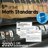 5th Grade Math I Can Statements (Indiana)