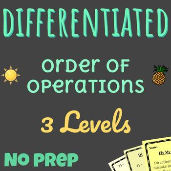 Differentiated Order of Operations | 50+ Math Stations | Common Core