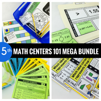 5th Grade Math Centers MEGA BUNDLE