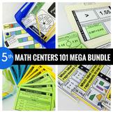 5th Grade Math Centers 101 MEGA BUNDLE