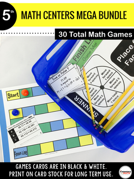 5th Grade Math Centers 101 MEGA BUNDLE