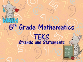 5th Grade Math I Can Statements