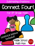 5th Grade Math Game Subtracting Fractions Connect Four - P