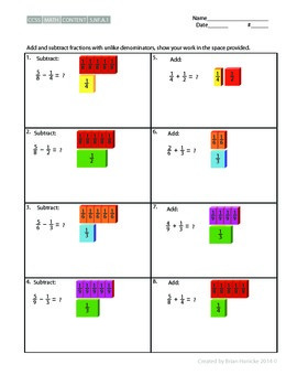 5th Grade Math - Subtracting and Adding Unlike Denominators
