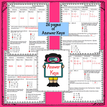 5th Grade Math Summer Review Packet
