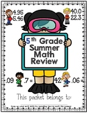 5th Grade Math Summer Review Freebie