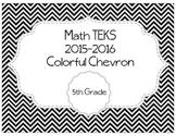 5th Grade Math TEKS - Black and White