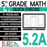 5th Grade Math TEKS Check 5.2a