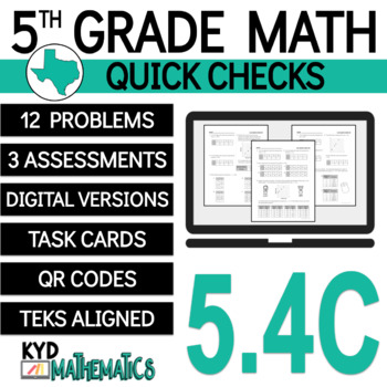 5.4C Quick Check - 5th Grade TEKS - Generating Numerical Patterns