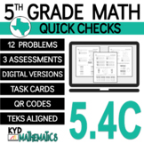 5th Grade Math TEKS Check 5.4C - STAAR Aligned - Generatin