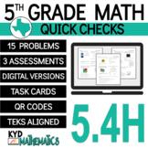 5th Grade Math TEKS Check 5.4h - STAAR Aligned - Perimeter, Area & Volume