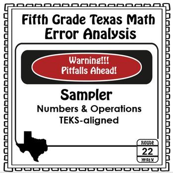 5th Grade Math TEKS Error Analysis Sampler {FREEBIE}