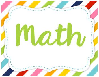 "5th Grade Math TEKS ""I Can"" Statements"