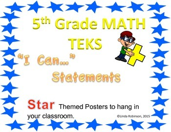 "5th Grade Math TEKS ""I can"" statements"