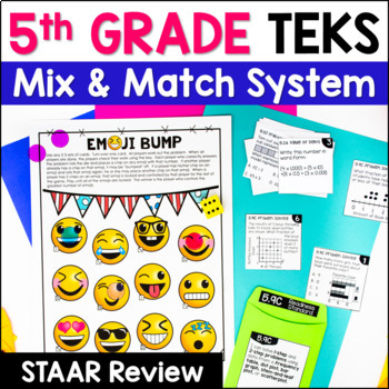 5th Grade Math TEKS: Station Games, Exit Slips, STAAR Review, Common Assessments
