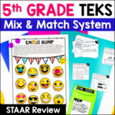 5th Grade Math TEKS: Station Games,  STAAR Review, Common Assessments